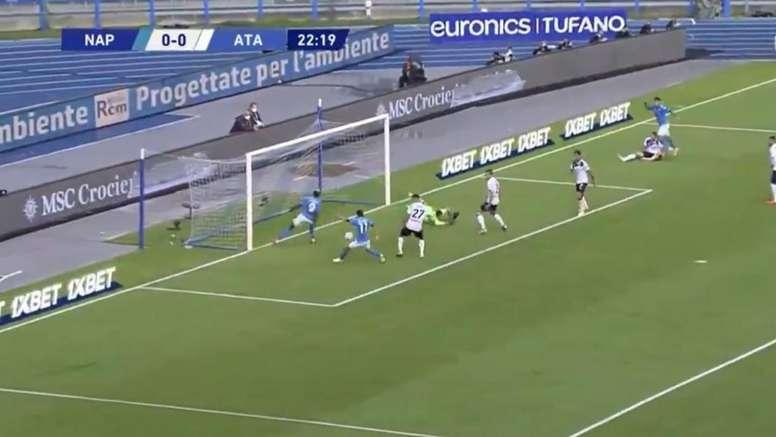 Lo spettacolo del Napoli contro l'Atalanta. beINSports