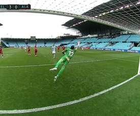Rafinha marcou golaços pelo Celta de Vigo contra o Alavés. Captura/MovistarLaLiga