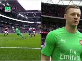 Leno salvó al Arsenal con una doble parada. Captura