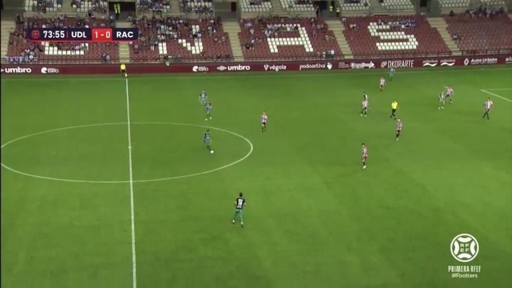 El Logroñés se impuso por 1-0 ante el Racing. Captura/Footters