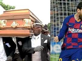 He said he would invite Messi, Ronaldo and Ronaldinho. Screenshot/BBC/AFP