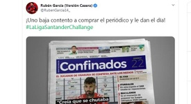 Rubén bromeó en Twitter. Captura/Twitter/RubenGarcia14_