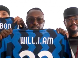 Black Eyed Peas thanked Inter for the jerseys. Screenshot/Twitter/bep