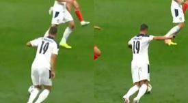 ¿Qué se le pasó por la cabeza? El amago sin intención que comparan con la 'Gravesinha'. Captura/UEFA