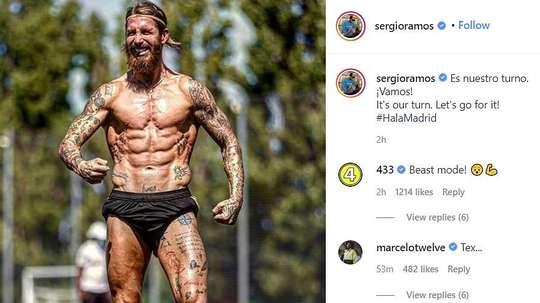 Lucas Vazquez taquine Sergio Ramos sur Instagram. Instagram/sergioramos