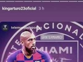 Vidal condivide un'immagine polemica sui social. Instagram/kingarturo23oficial