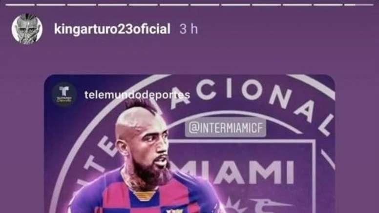 Arturo Vidal publica story polêmico. Instagram/kingarturo23oficial