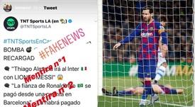 Leo Messi sale a desmentir. Captura/Instagram/leomessi/EFE
