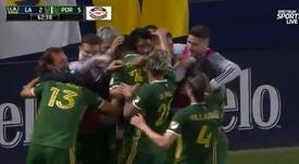 Portland Timbers le saca los colores a los Galaxy en la gran noche del 'Pipa'. Captura/MLS