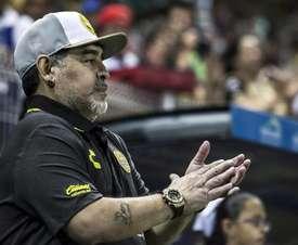 Maradona deslumbró en su primer partido al frente de Dorados. Captura/CNN