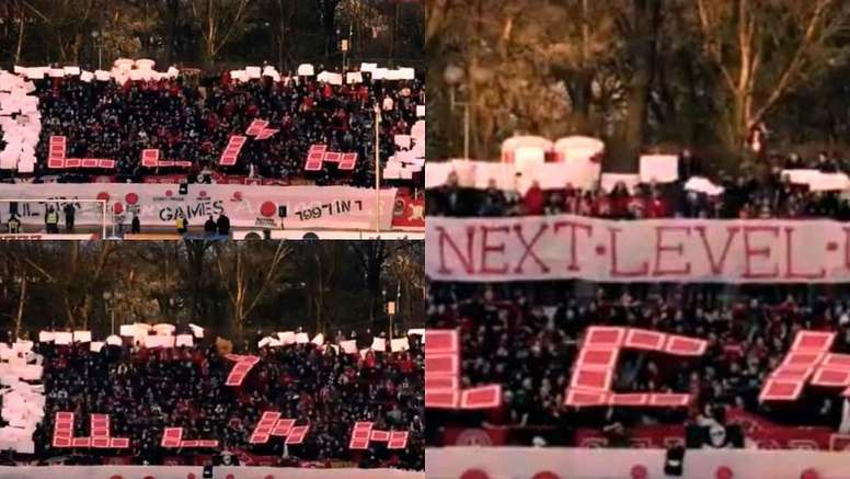 Un tifo original à l'ancienne. Captura/NorthStandTV