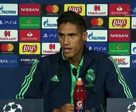 Varane said Real Madrid's aim is to win the Champions League. Captura/RealMadridTV