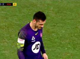 Vedran Janjetovi cedió el empate en el minuto 96. Captura/FOX