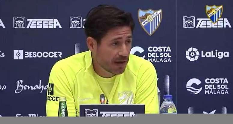 Víctor alabó la fiabilidad del Fuenlabrada. Captura/MálagaCF
