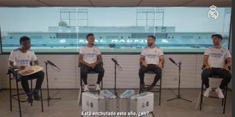 Asensio, Carvajal y Militao se pasaron con 'Vini'. Captura/RealMadrid