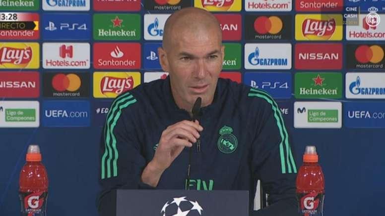La conf. de presse de Zinedine Zidane. Capture/RMTV