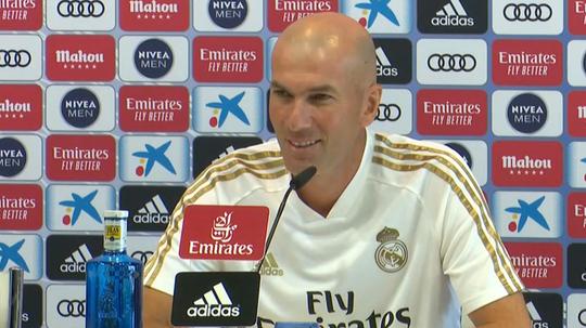 Zidane a évoqué la situation de Keylor. Capture/RealMadridTV