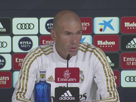 Zidane spoke in front of the media on the eve of the visit to Son Moix. Captura/RealMadridTV