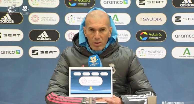 Zinedine Zidane était en conférence de presse. Capture/RFEF