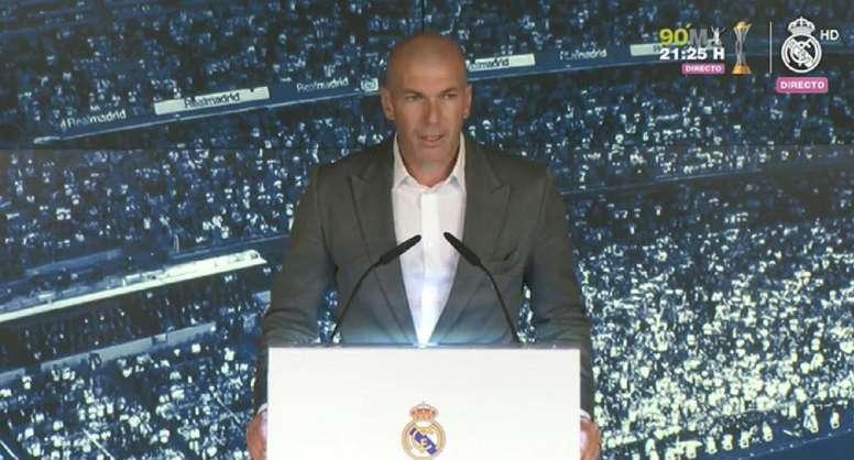Zidane assegurou estar feliz com o regresso. Captura/RMTV