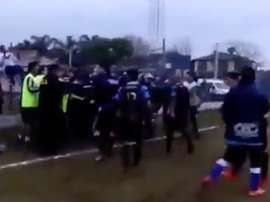 Los dos conjuntos argentinos protagonizaron una pelea curiosa. Twitter