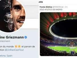 Curioso 'me gusta' de Griezmann a una postal atlética. Twitter/AntoGriezmann