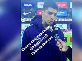 Paulinho a applaudi Suárez et Coutinho. Instagram/PaulinhoP8