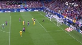 Messi y Griezmann ya combinan. Captura/Movistar