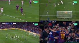 Il goal di Messi. Captura/Movistar