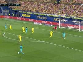 La délicieuse enroulée de Luis Suárez sur un gros travail de Messi. Capture/LaLiga
