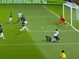Icardi se quedó sin gol en el Argentina-México. Captura/AztecaDeportes