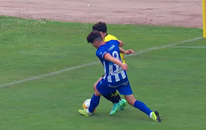 El Oviedo jugó un amistoso con el Avilés. Captura/RealOviedo