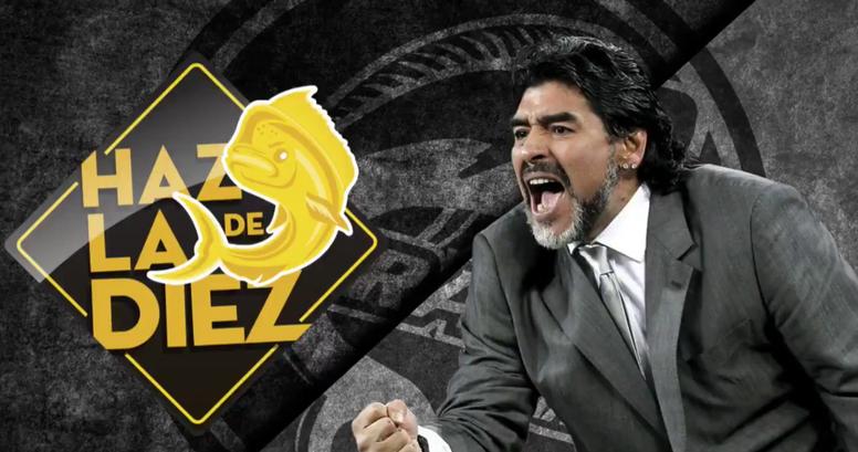 Captura do anuncio de Maradona pelo Dorados de Sinaloa. Twitter/Dorados