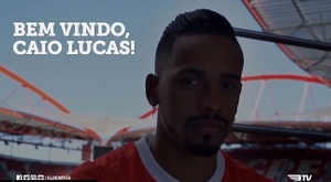 Caio é o novo jogador do Benfica. Twitter/SLBenfica