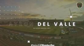 Del Valle cambia Millonarios por Juárez FC. Twitter/fcjuarezoficial