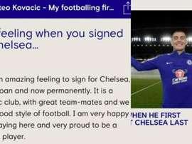 Chelsea annonce accidentellement le transfert de Kovacic ! Captura/ChelseaFC