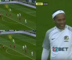 Porque Ronaldinho siempre será Ronaldinho. Captura/SportTV
