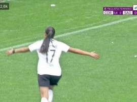 Corinthians ganha a final do Paulista Feminino por.. 2,4 a 0! /Captura/FPFTV