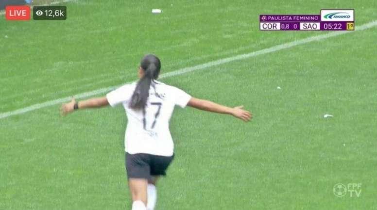 Corinthians ganha a final do Paulista Feminino por.. 2,4 a 0! /Captura/FPFTV
