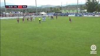 El Calahorra se enfrentó al Deportivo. Captura/Footters
