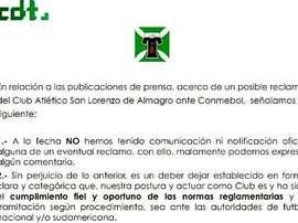 El conjunto chileno quiso responder a la denuncia de San Lorenzo. DeportesTemuco