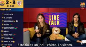 Polémicas palabras de los conductores del choque. Captura/BarçaTV