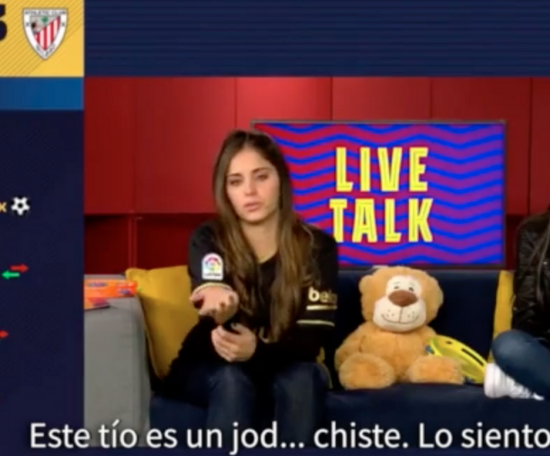 Barca TV were far from happy with Messi's red card. Screenshot/BarcaTV