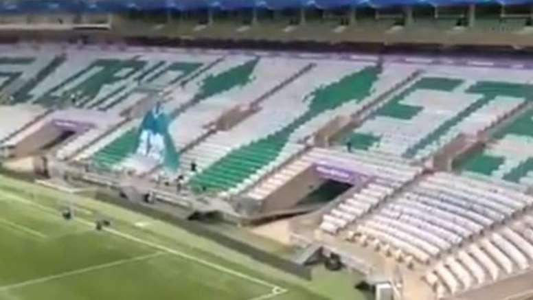 Palmeiras se ve como campeón de la Libertadores. Twitter/javigilnavarro