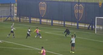 Boca gana y empata en su doble amistoso contra Sarmiento. Captura/BocaJrsOficial