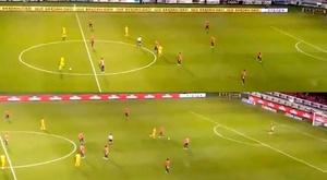 Time mexicano fica quatro minutos parado e leva dois gols. Twitter/UnivDeportes