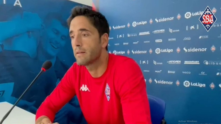 Íñigo Vélez cumplirá 100 partidos como entrenador del Amorebieta. YouTube/SDAmorebieta