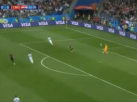 La bourde de Caballero permet aux Croates de mener au score. Capture/TVArgentina
