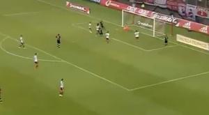 Robinho deixou seu time sem a Champions quando era só empurrar pra dentro. Captura/GoalForza