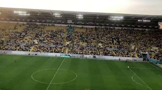 La DFB Pokal 'pasa' del coronavirus: 10.000 espectadores en Dresden. Captura/Abendblatt HSV